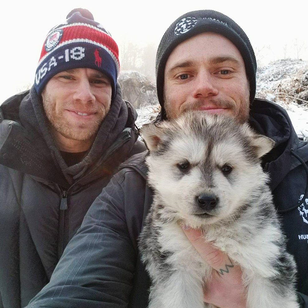 Matt Wilkas Gus Kenworthy dog adoption