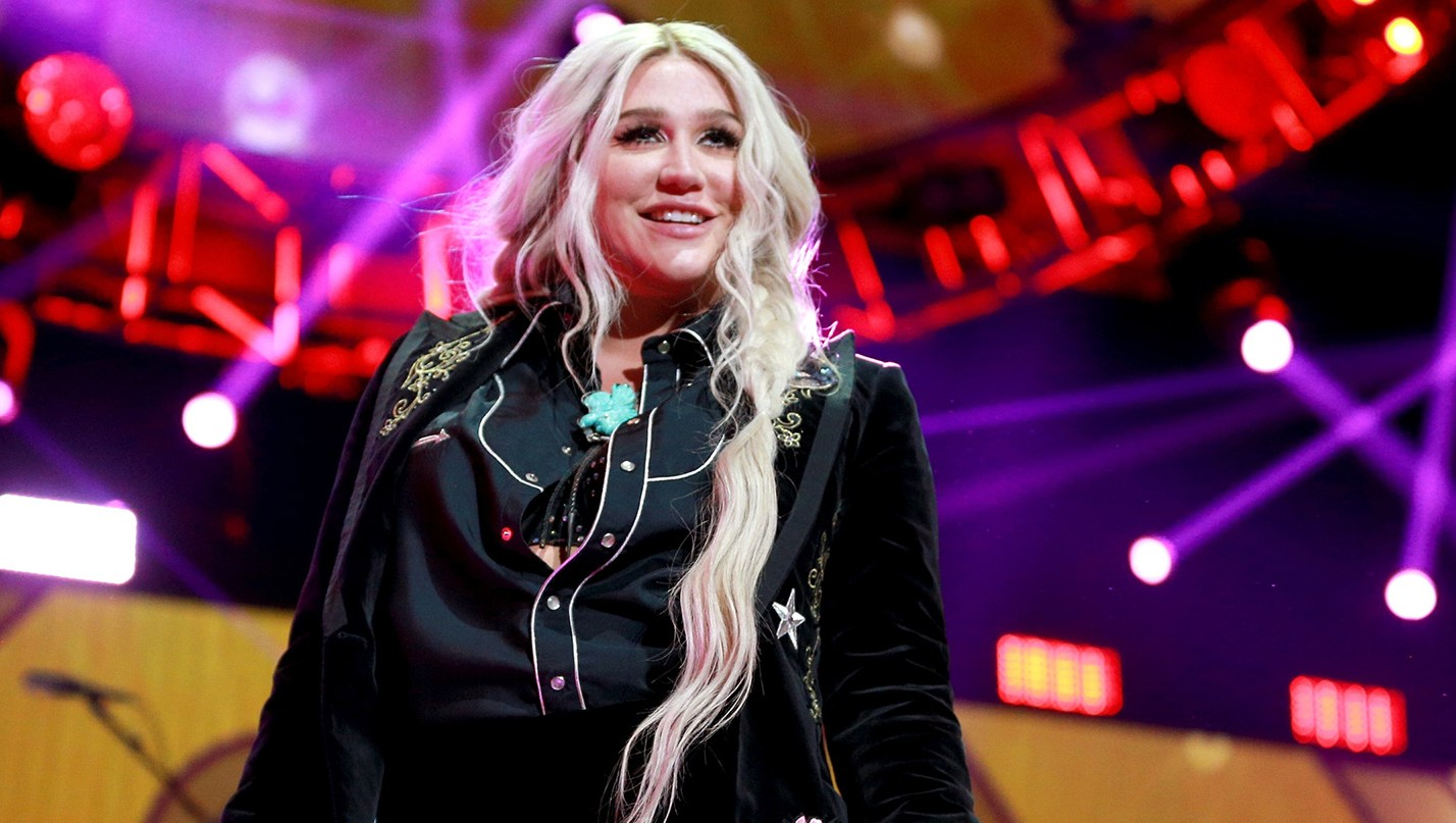 Kesha performs onstage