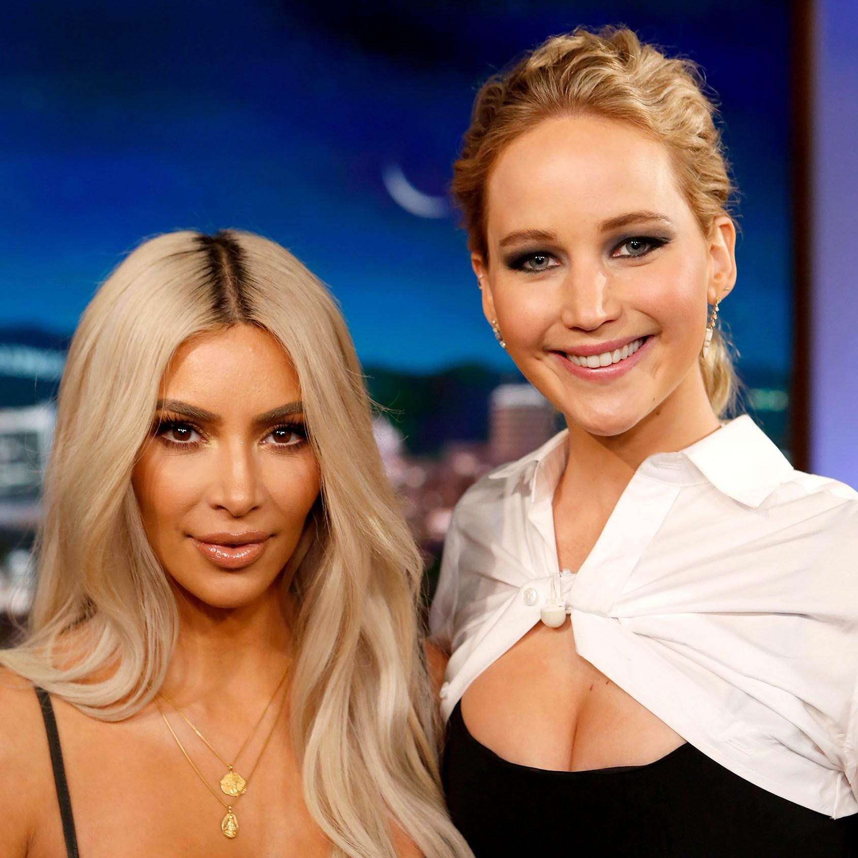 Kim Kardashian & Jennifer Lawrence