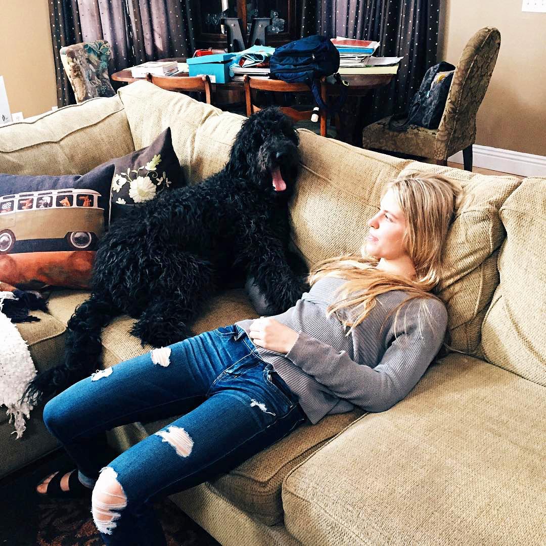 Maddie Mastro with her dog Zody