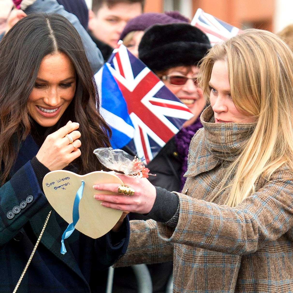 Meghan Markle accompanied by Amy Pickerill