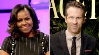 Michelle Obama and Ryan Reynolds
