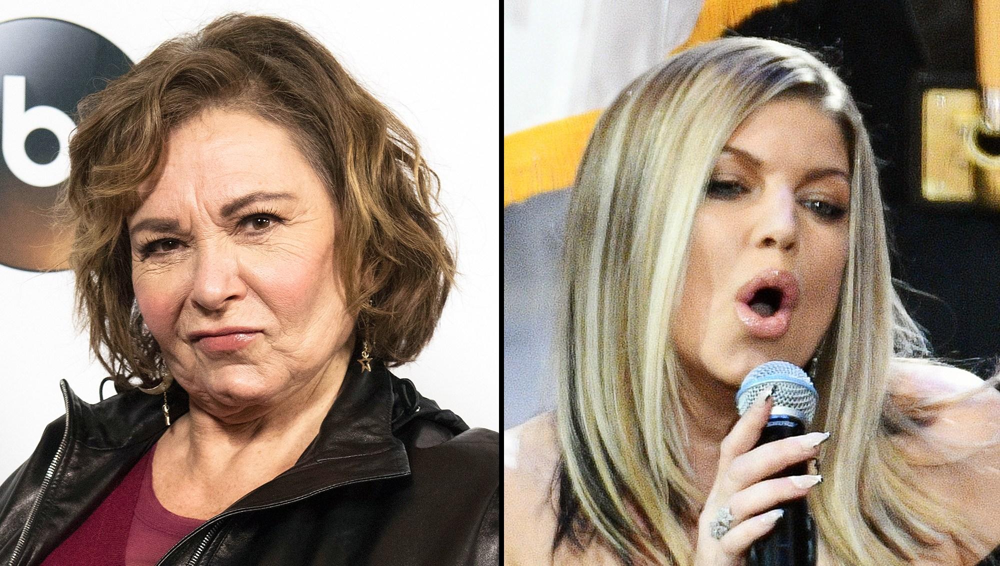 Roseanne Fergie national anthem