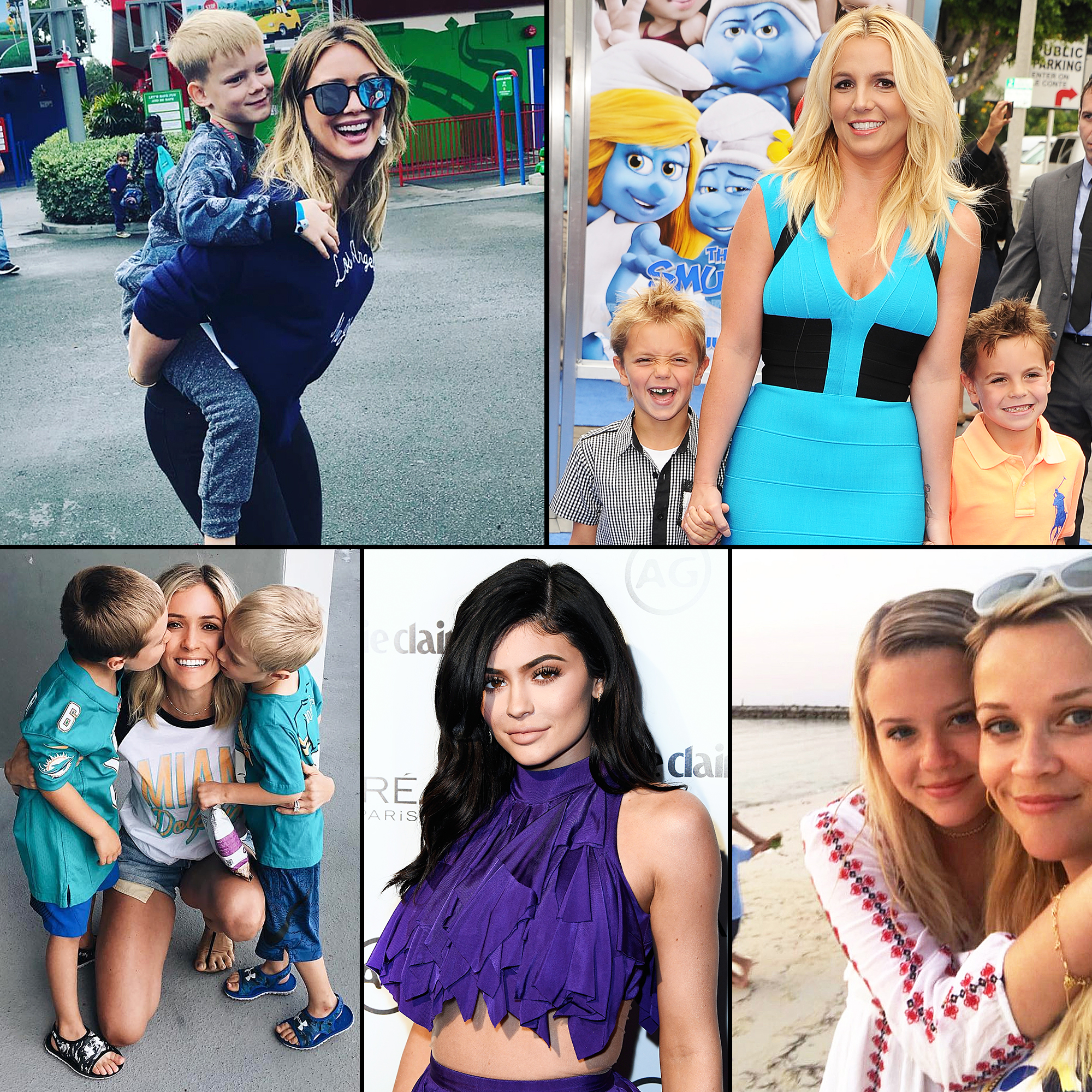 Young Hollywood Moms Hilary Duff Luca Britney Spears Sean Preston Jayden James Reese Witherspoon Ava Kylie Jenner Kristin Cavallari Camden Jaxon