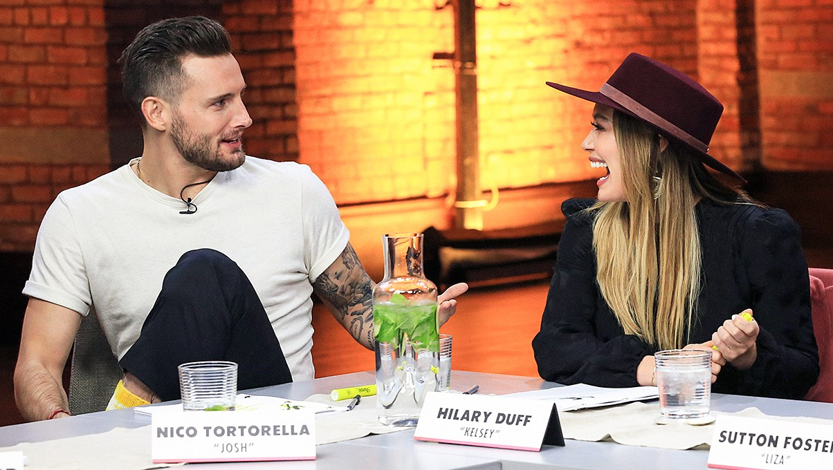 Nico Tortorella Hilary Duff Sutton Foster Younger Cast Reunite For First Table Read