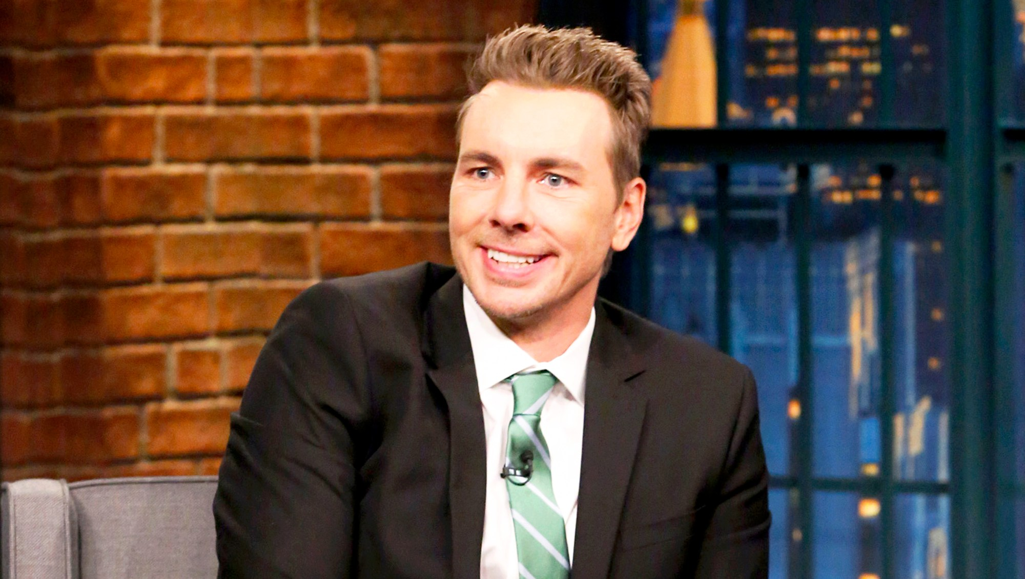 Dax Shepherd during 'Late Night with Seth Meyers'
