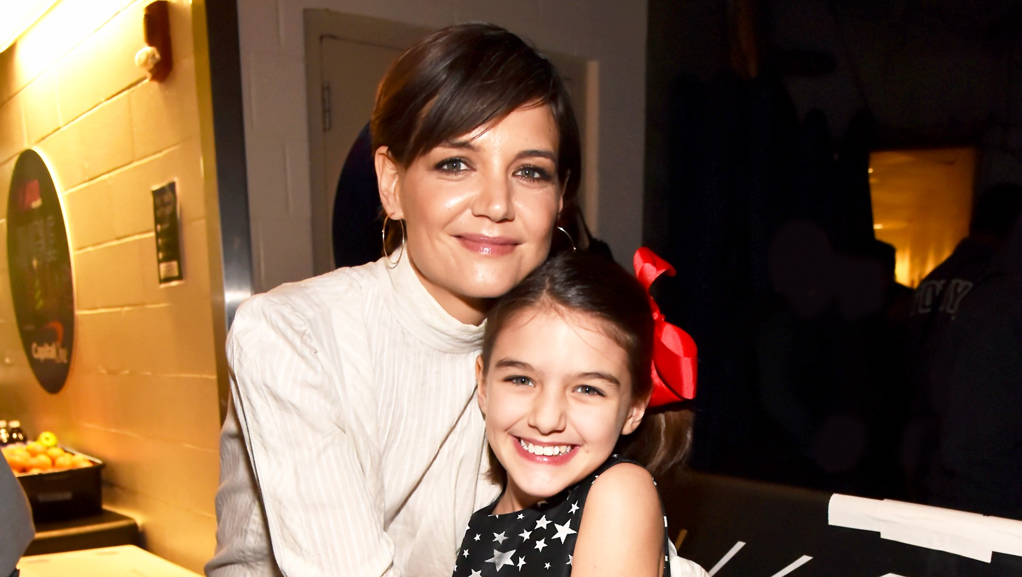 Katie Holmes and Suri Cruise attend the Z100's Jingle Ball 2017 in New York City.