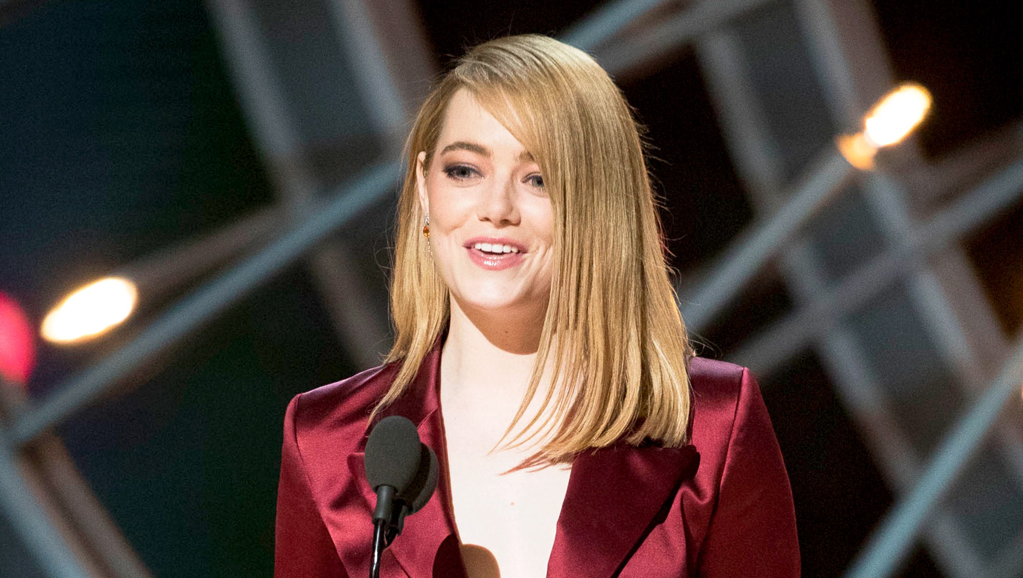 Emma Stone during the 90th Annual Academy Awards show on March 4, 2018 in Hollywood, California.