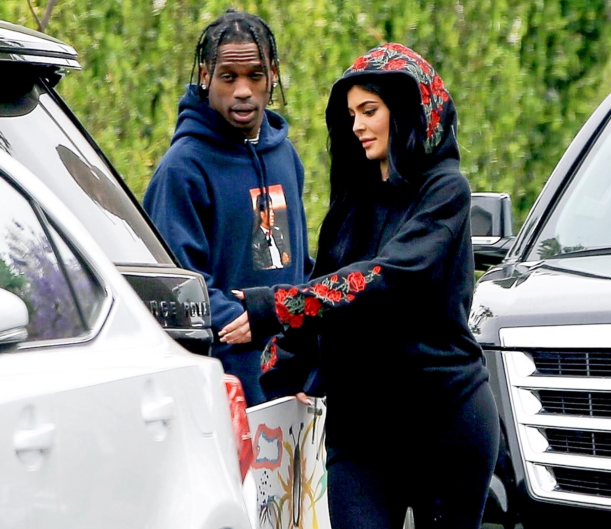 Kylie Jenner Is Wearing Travis Scotts Initials on Her Wedding Finger