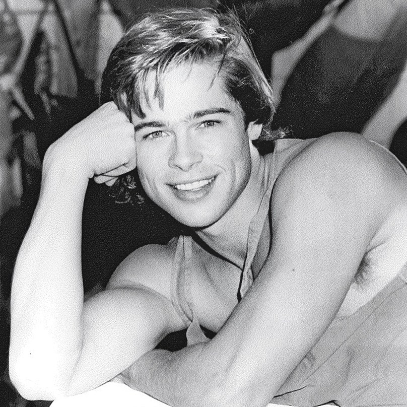 retro Brad Pitt photoshoot