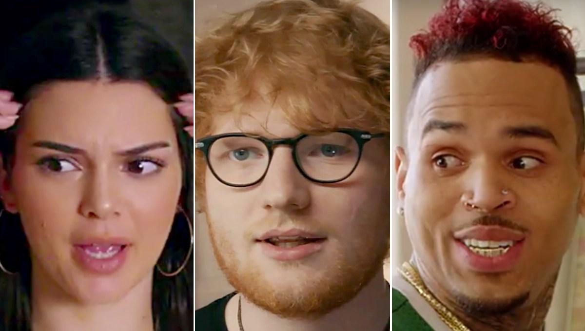 kendall-jenner-ed-sheeran-chris-brown-music-video