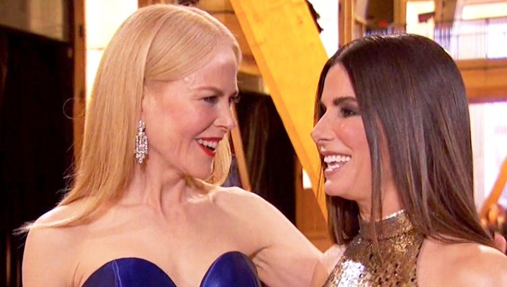 Nicole Kidman and Sandra Bullock Oscars 2018