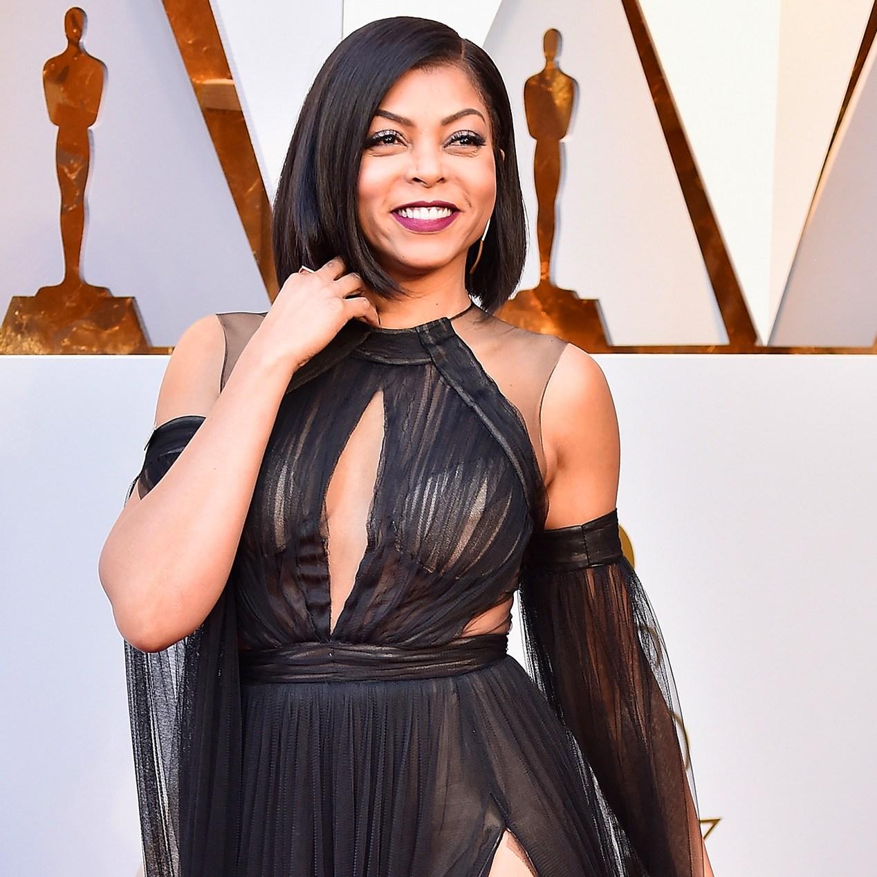 Taraji P. Henson ryan seacrest Oscars 2018