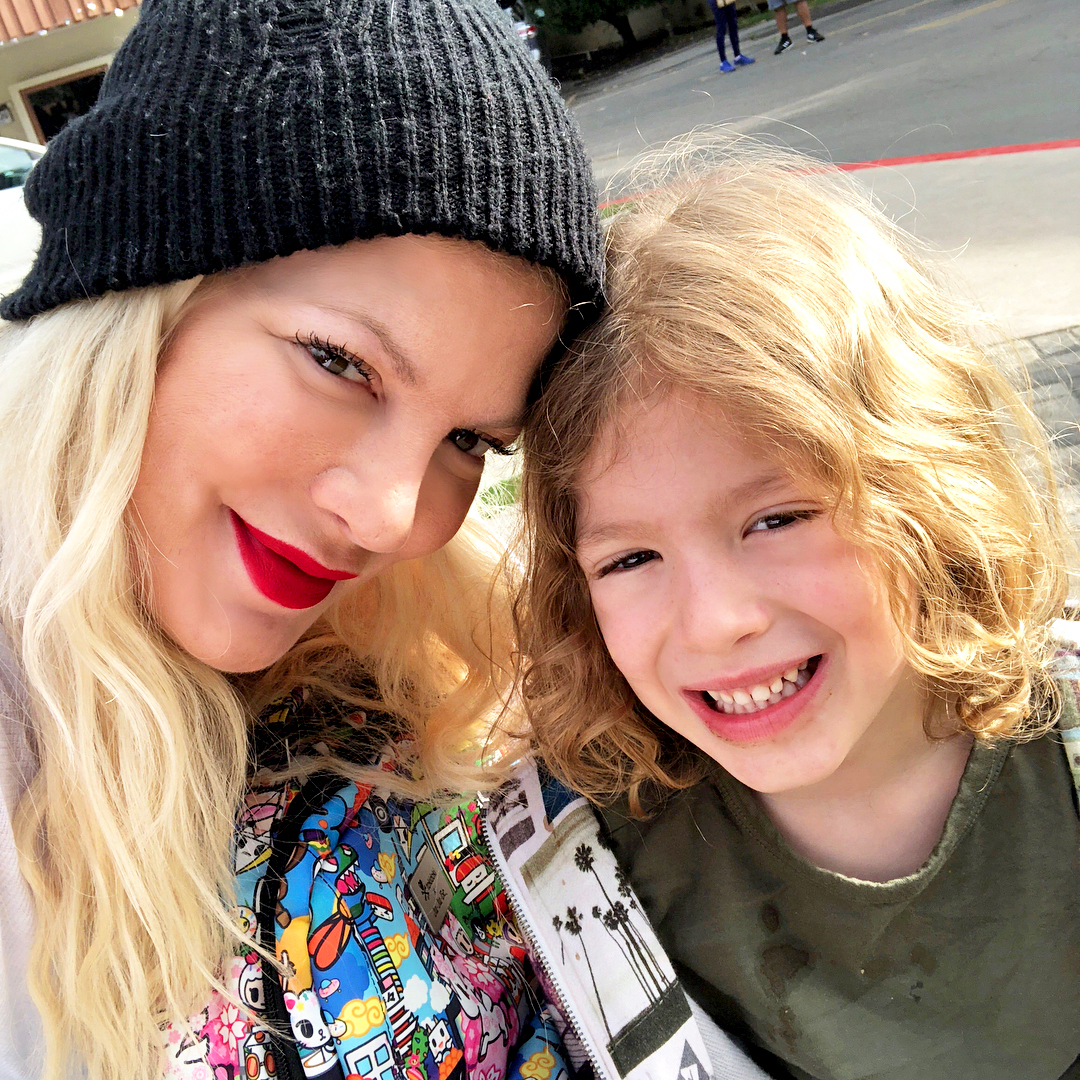 Tori Spelling and son Finn