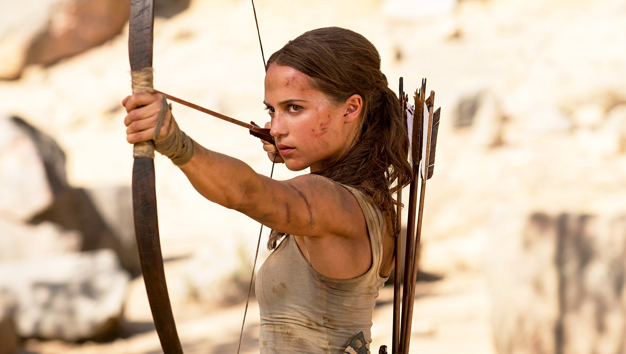 Alicia Vikander in 'Tomb Raider'
