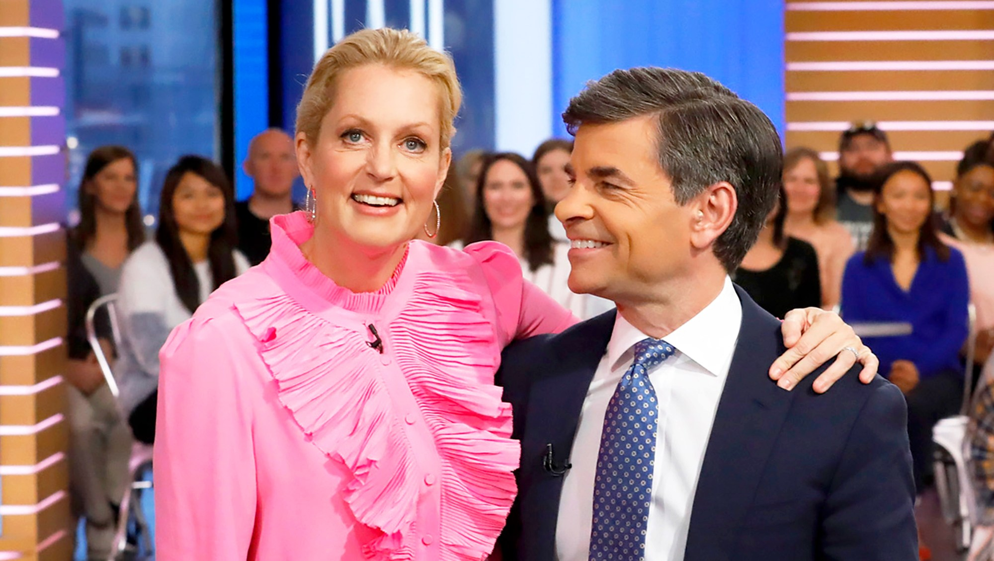 Ali Wentworth and George Stephanopoulos on 'Good Morning America'