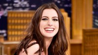 Anne Hathaway visits 'The Tonight Show ' at Rockefeller Center in New York City.
