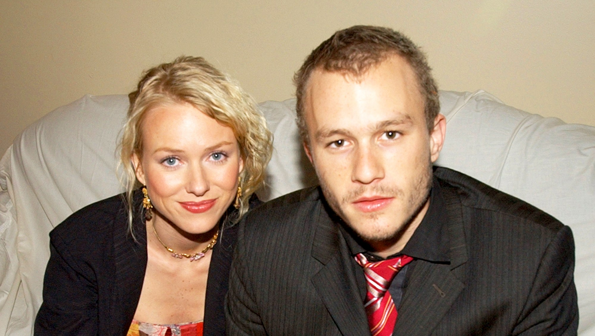 Naomi Watts and Heath Ledger attend the 2002 GQ Men of the Year Awards in New York City.