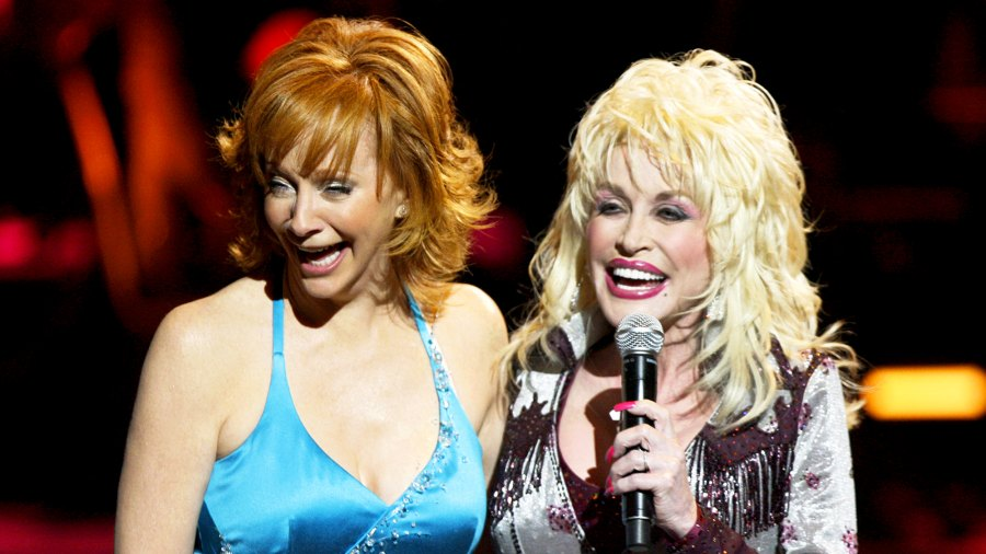 Reba McEntire and Dolly Parton during the 2016 CMT Giants show at Kodak Theater in Hollywood, California.