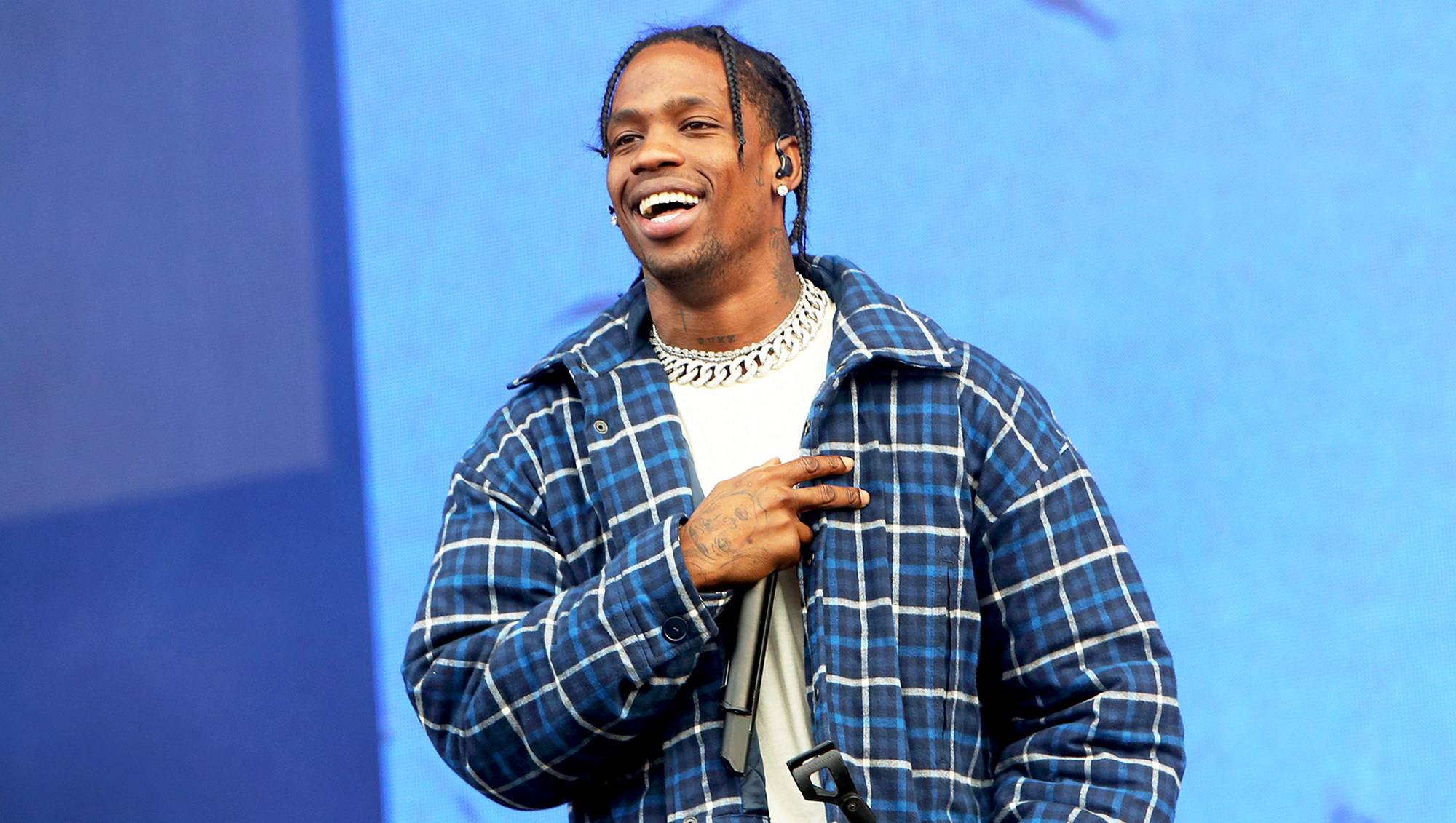 Travis Scott performs on day 2 of Wireless Festival at Finsbury Park on July 8, 2017 in London, England.