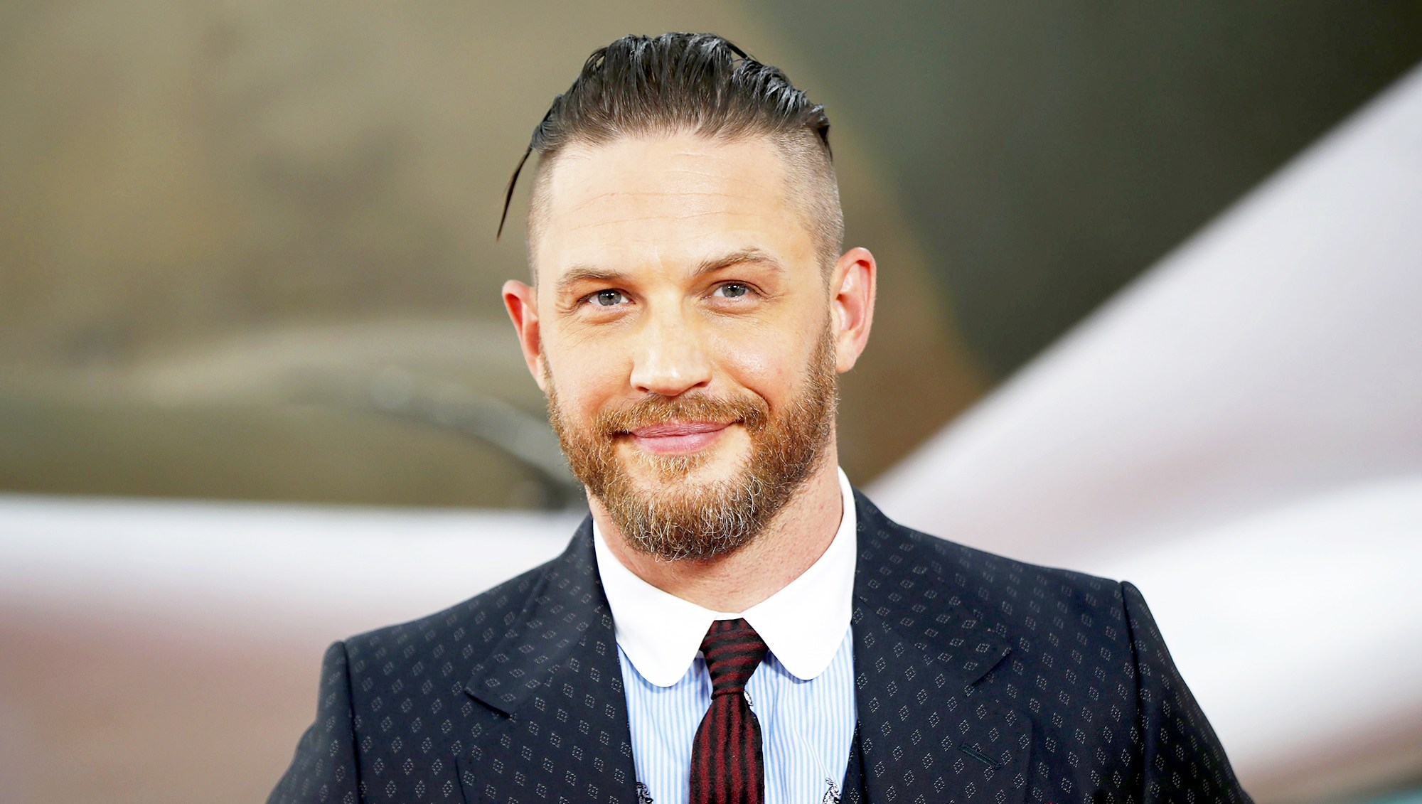 "Tom Hardy arrives for the world 2017 premiere of ""Dunkirk"" in London, England."