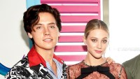 Cole Sprouse and Lili Reinhart attend the Teen Choice Awards 2017 at Galen Center in Los Angeles, California.