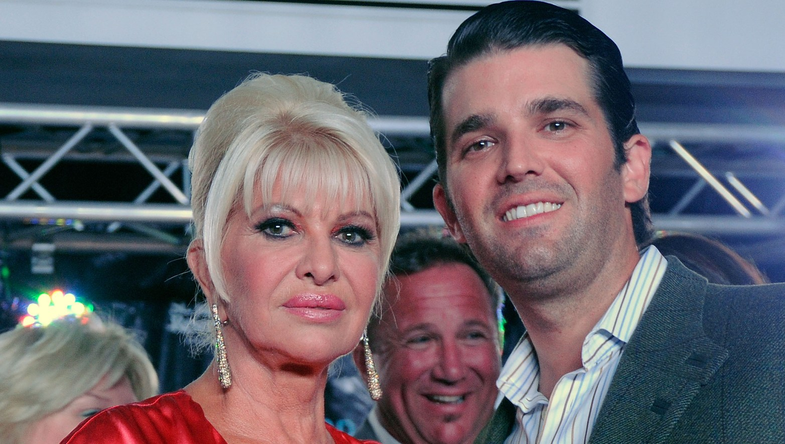 Ivana Trump and her son Donald Trump Jr.