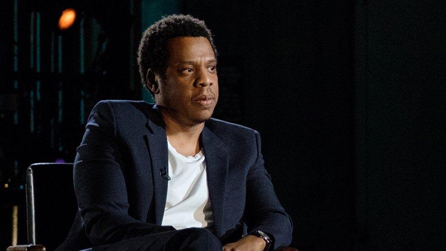 Jay-Z with David Letterman.