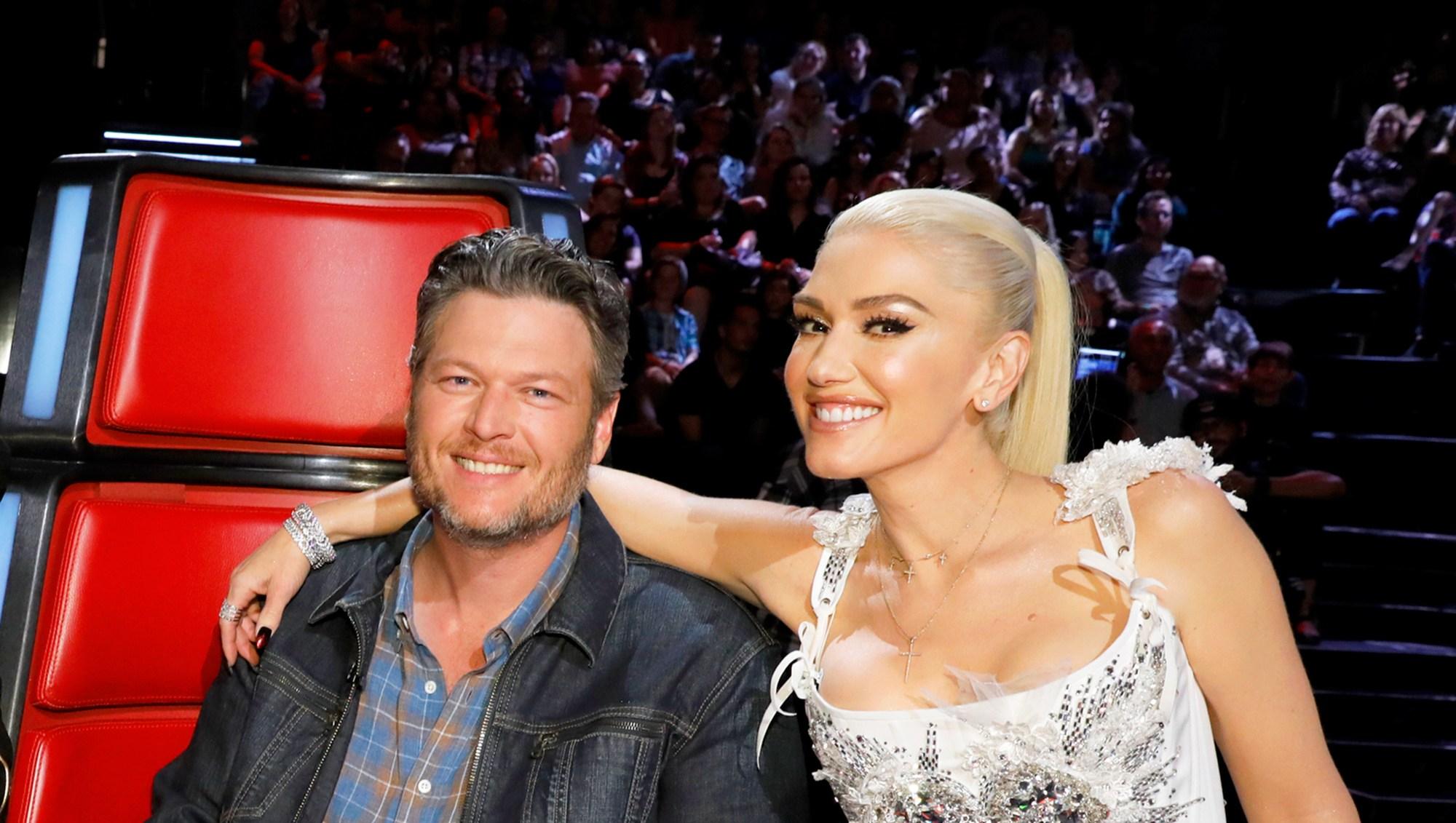 Blake Shelton and Gwen Stefani on 'The Voice'