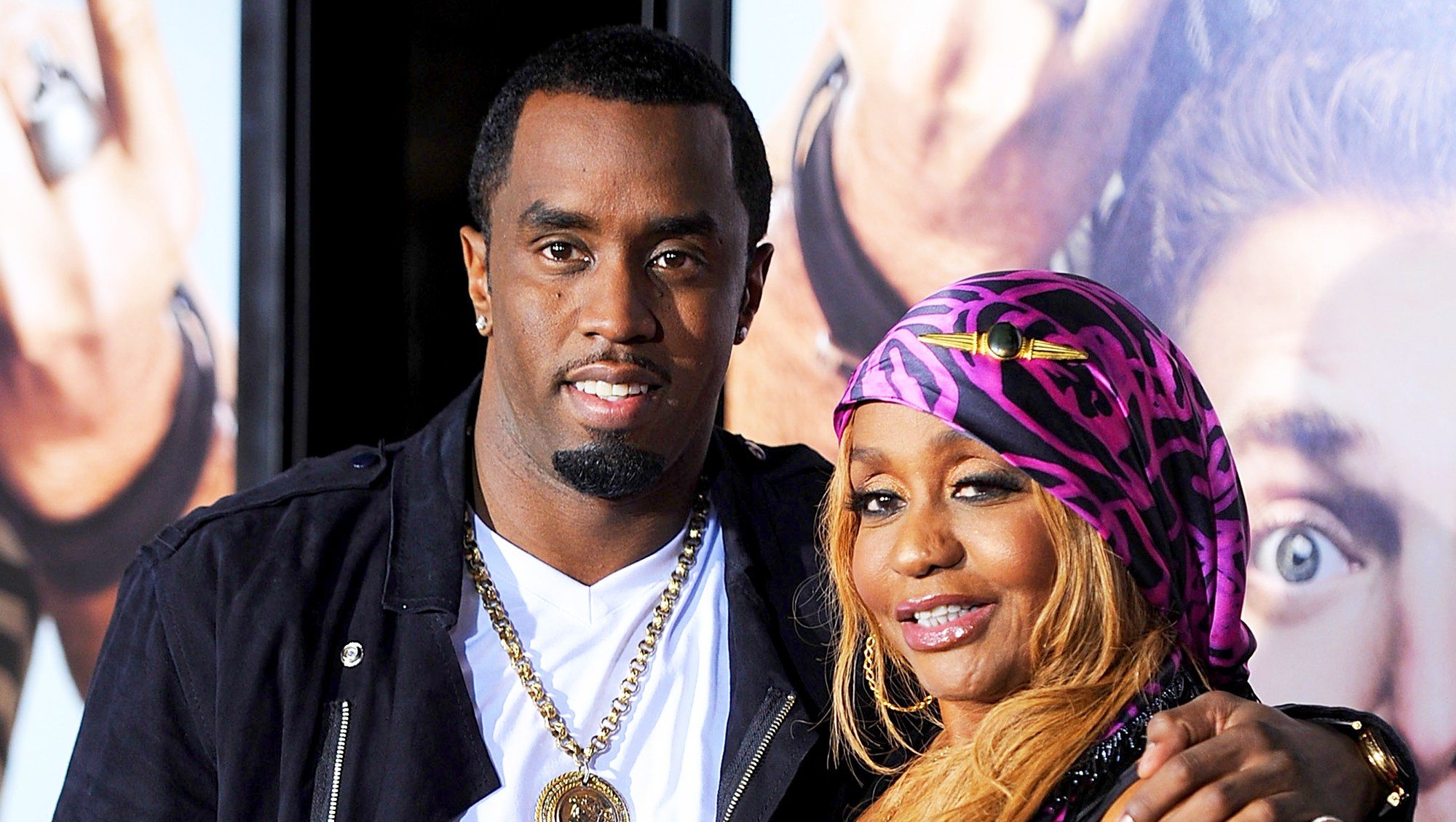 "Sean 'Diddy' Combs and his mother Janice arrives at the 2010 premiere of ""Get Him To The Greek"" at the Greek Theatre in Los Angeles, California."