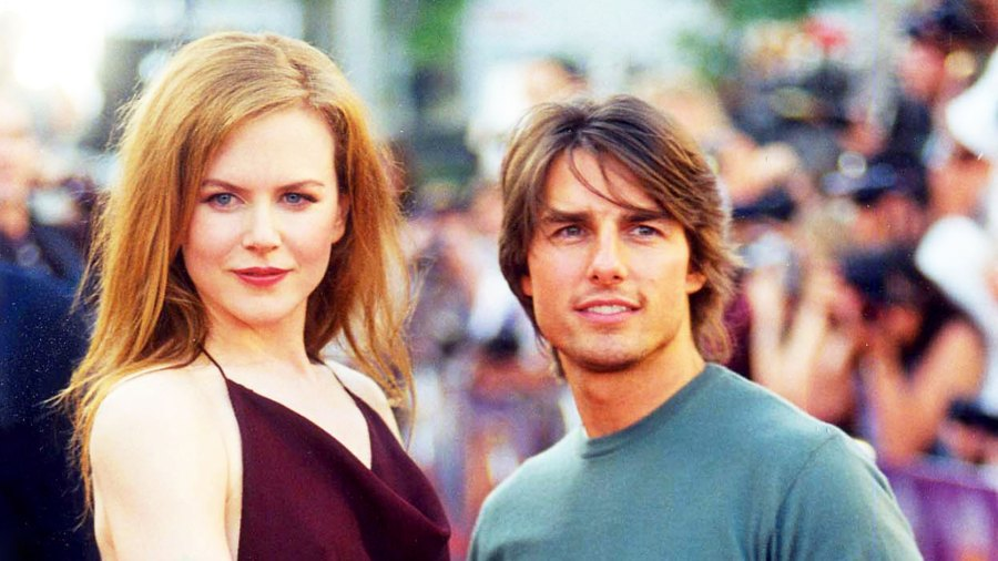 Nicole Kidman and Tom Cruise attend the 1999 'Eyes Wide Shut' premiere in Westwood, California.
