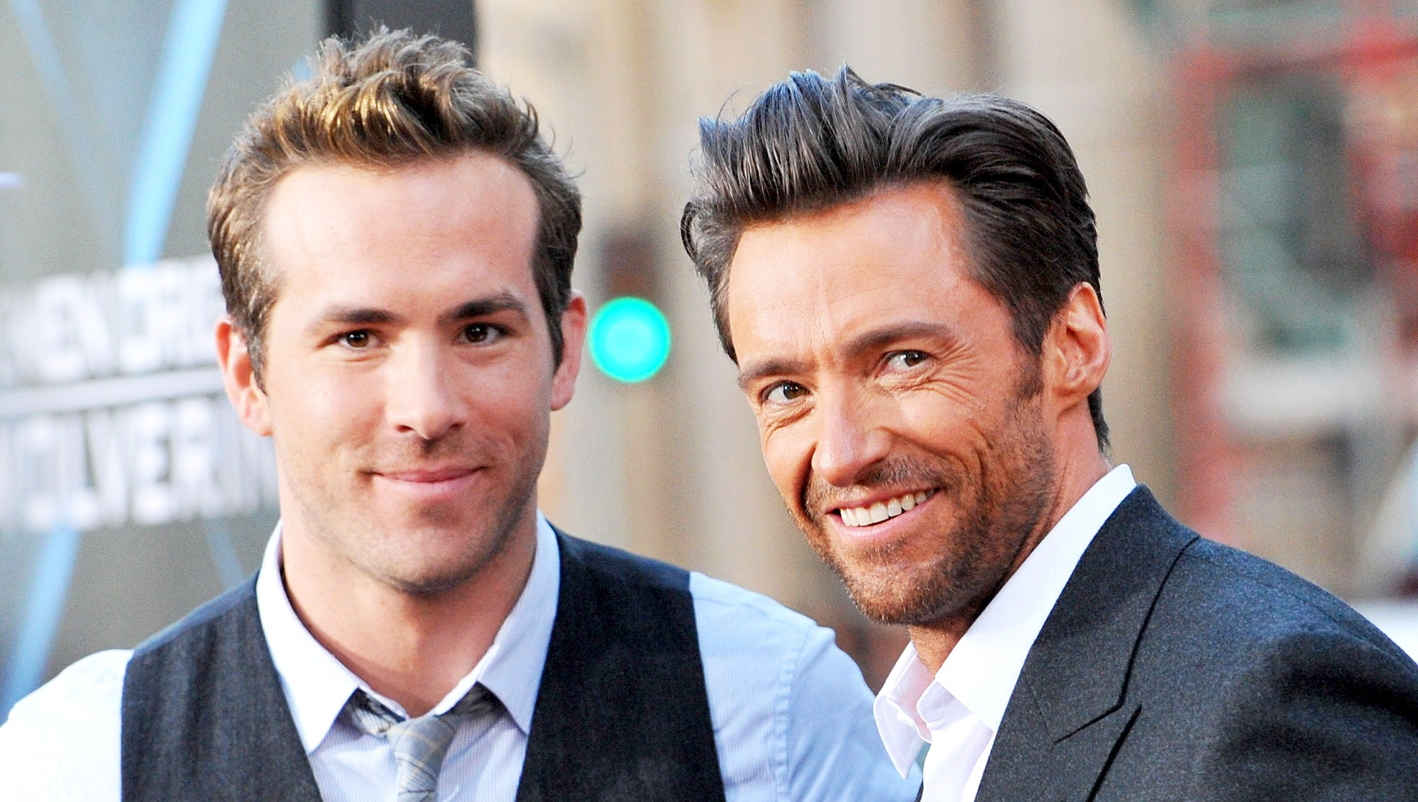 "Ryan Reynolds and Hugh Jackman arrive at the Los Angeles Industry 2009 Screening ""Xmen Origins: Wolverine"" at Grauman's Chinese Theater in Hollywood, California."