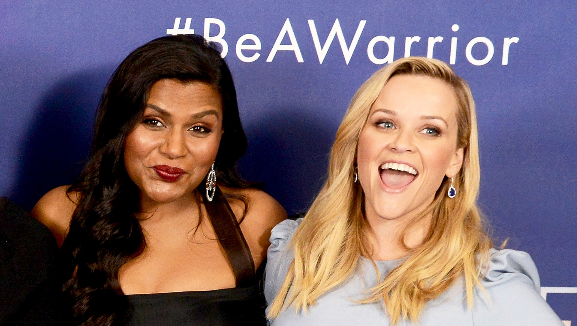 Mindy Kaling and Reese Witherspoon attend the 2018 European premiere of 'A Wrinkle In Time' at BFI IMAX in London, England.