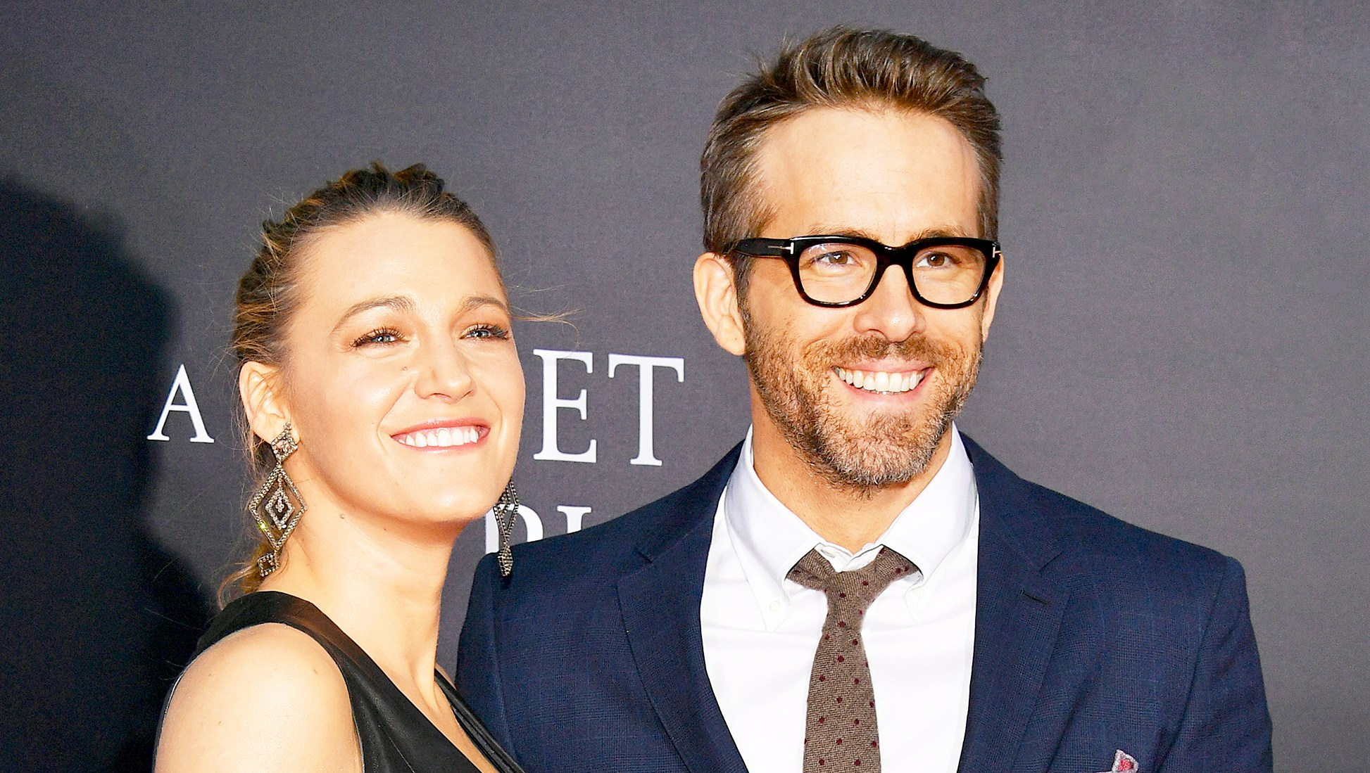 "Blake Lively and Ryan Reynolds attend the ""A Quiet Place"" New York 2018 Premiere at AMC Lincoln Square Theater in New York City."