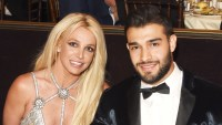 Britney Spears and Sam Asghari attend the 29th Annual GLAAD Media Awards at The Beverly Hilton Hotel on April 12, 2018 in Beverly Hills, California.