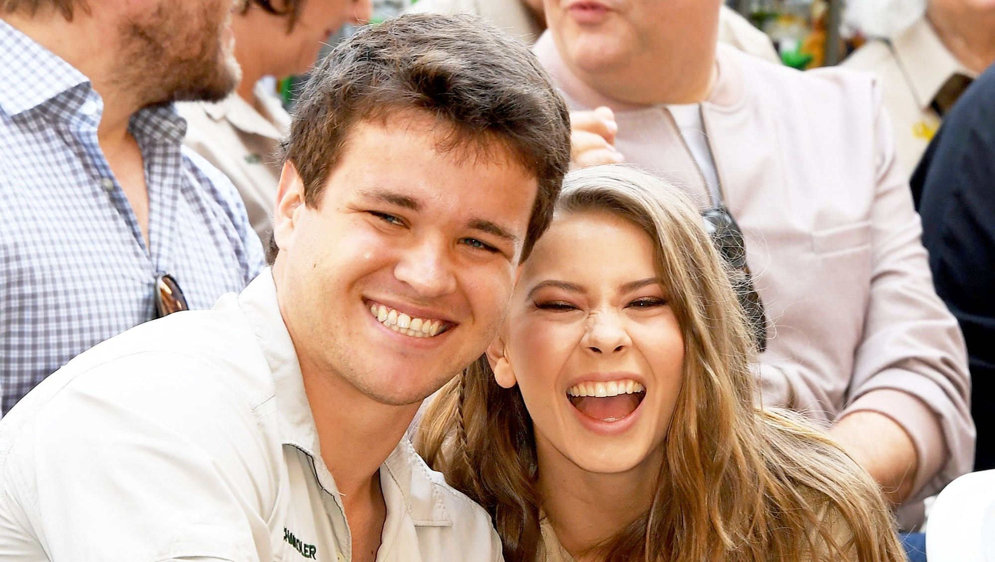 Chandler Powell and Bindi Irwin attend the ceremony for Steve Irwin with a Star on the Hollywood Walk of Fame in Hollywood, California on April 26, 2018.