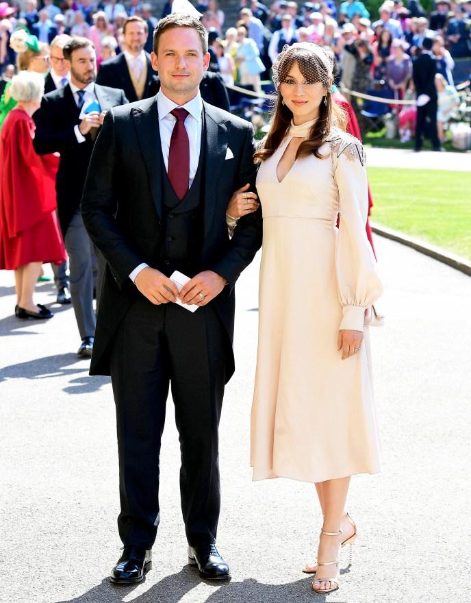 Patrick J. Adams and wife Troian Bellisario Royal Wedding Gallery