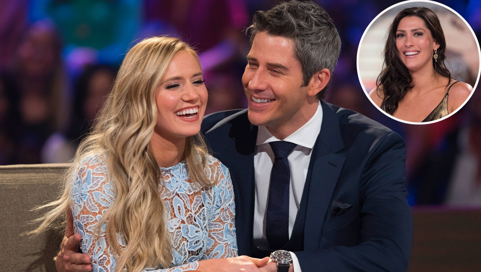 Arie Luyendyk Jr. and Lauren Burnham with Becca Kurfrin
