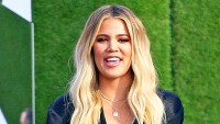 Khloe Kardashian promotes her 'Good American' clothing line at the Westfield Mall in Century City, California.