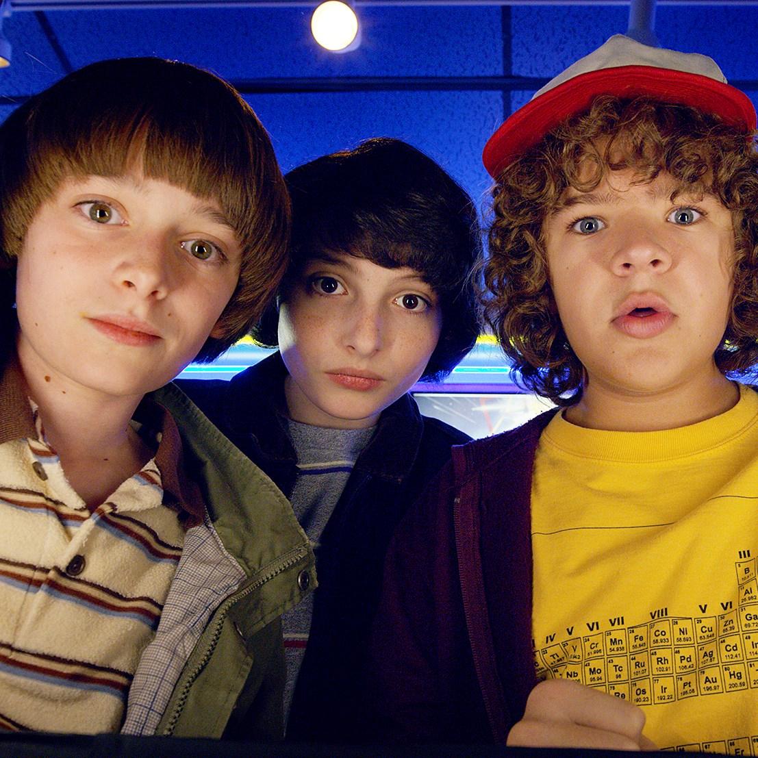 Noah Schnapp, Finn Wolfhard, Gaten Matarazzo and Caleb Mclaughlin in 'Stranger Things' Season 2