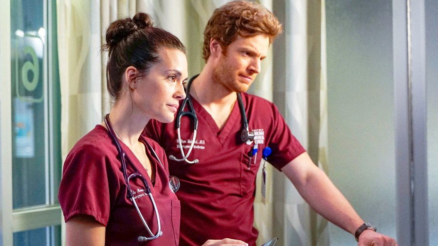 Torrey DeVitto as Natalie Manning and Nick Gehlfuss as Will Halstead in 'Chicago Med'