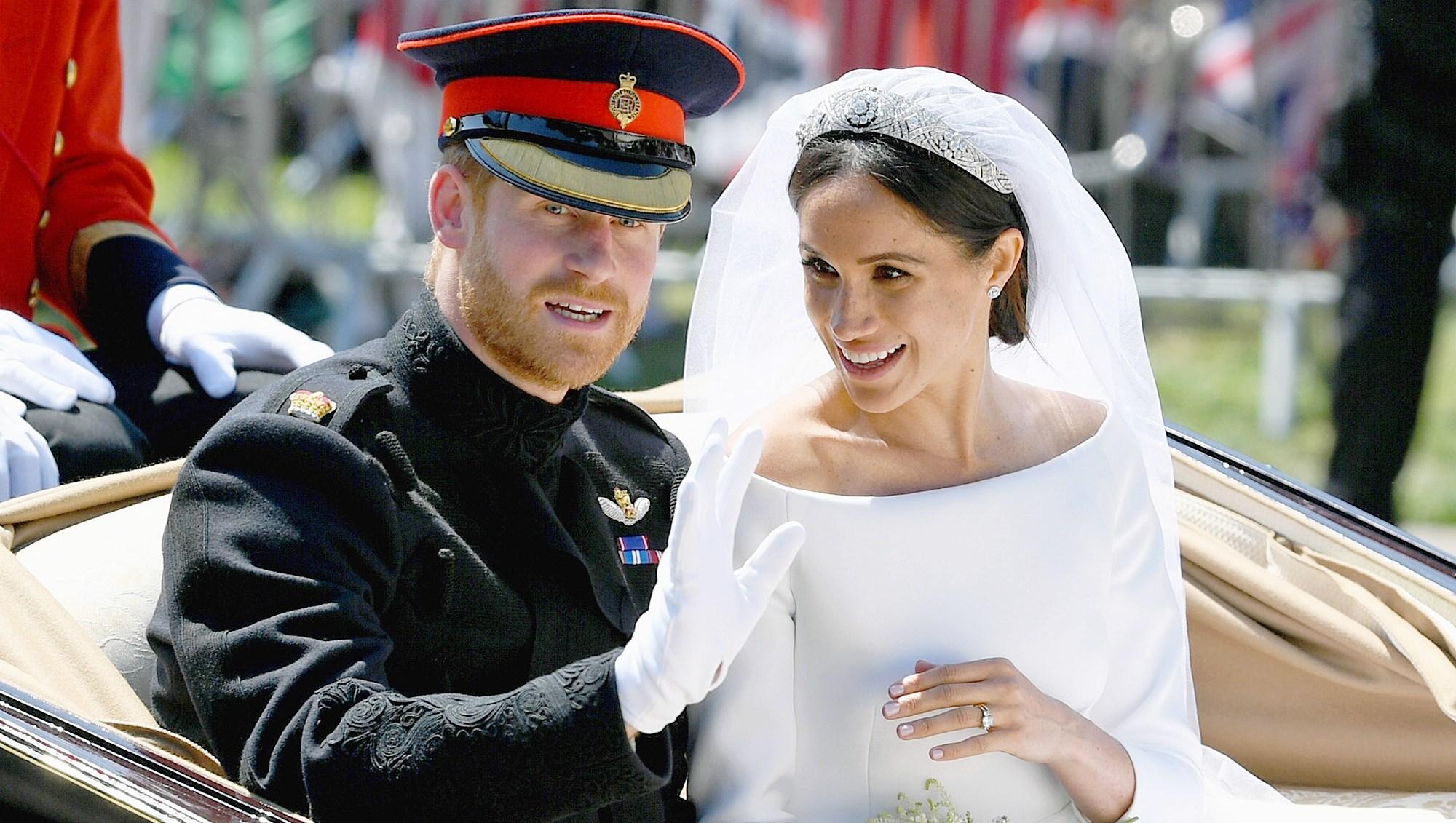 Prince Harry, Duchess Meghan Markle, Royal Wedding, Carriage