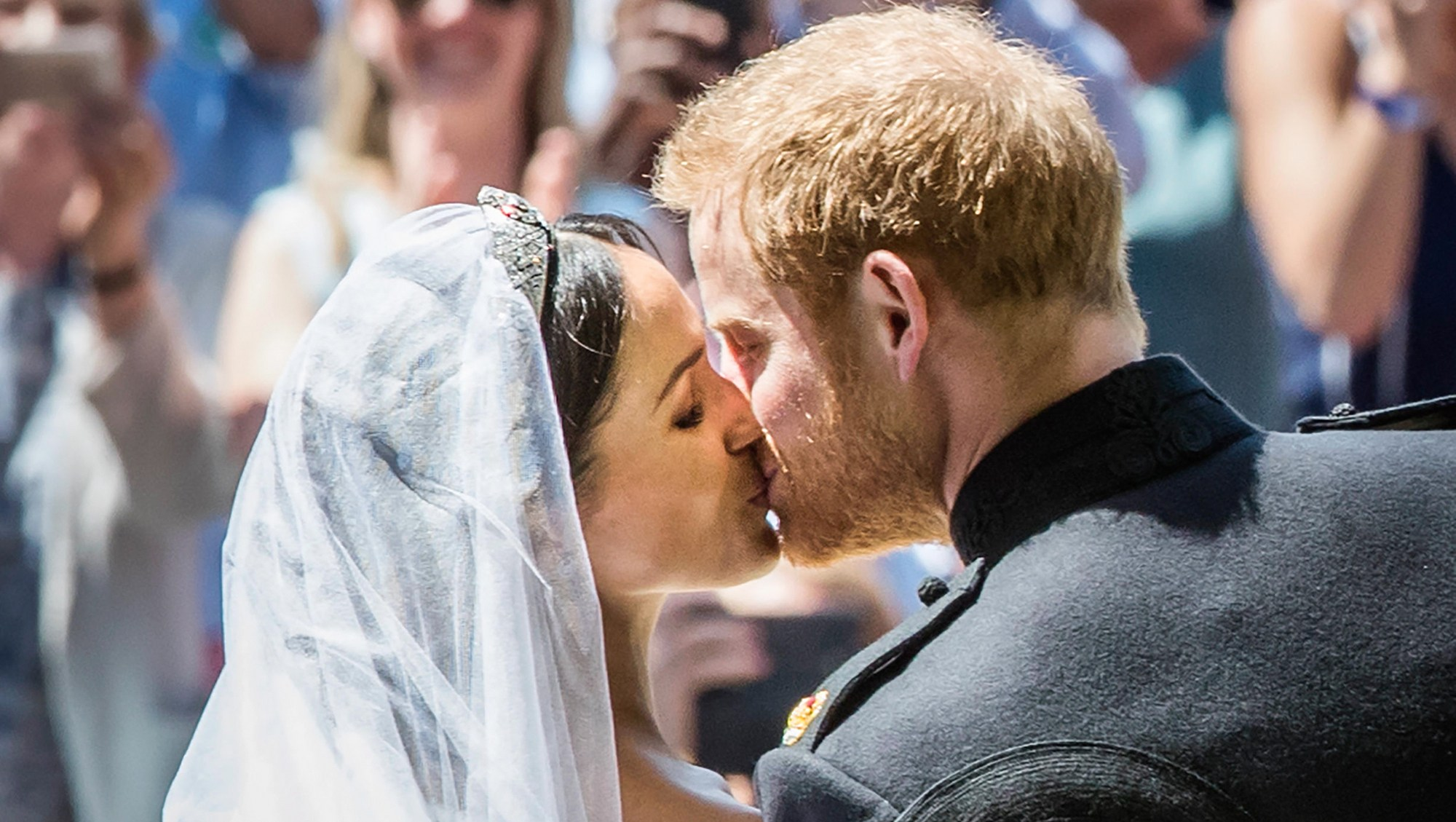 Wedding of Prince Harry and Meghan Markle, at St George's Chapel at Windsor Castle in Berkshire