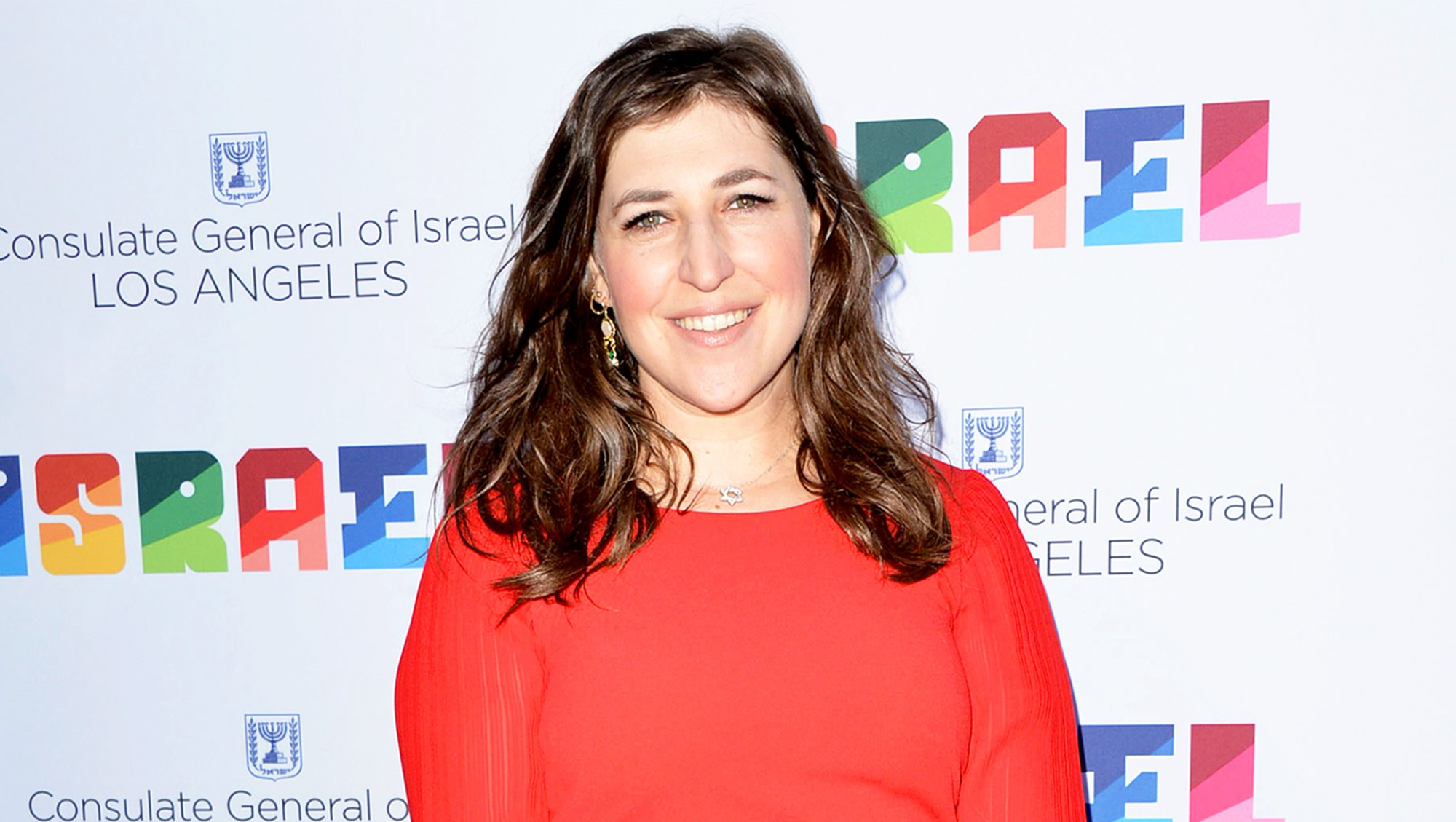 Mayim Bialik attends a private celebration of The 70th Anniversary of Israel hosted by the Consul General of Israel on June 10, 2018 in Los Angeles, California.