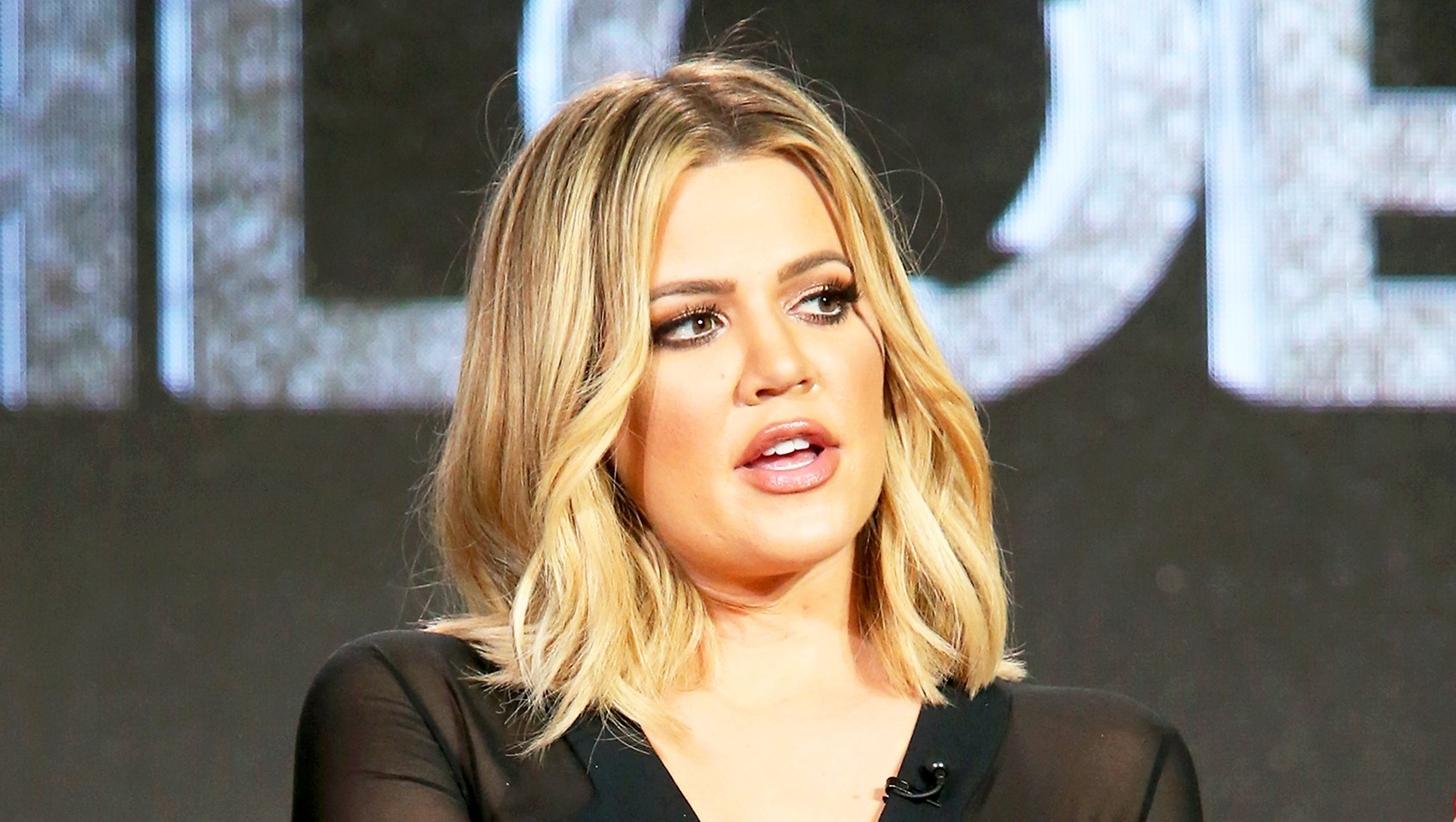 Khloe Kardashian during FYI Kocktails with Khloe panel as part of the A+E Network portion of This is Cable 2016 Television Critics Association Press Tour at Langham Hotel in Pasadena, California