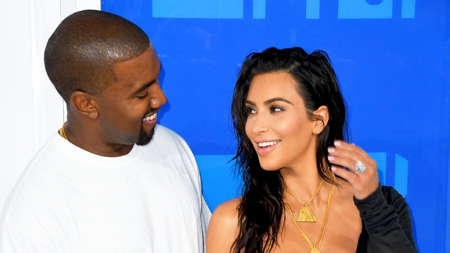 Kanye West and Kim Kardashian arrive for the 2016 MTV Video Music Awards at Madison Square Garden in New York.