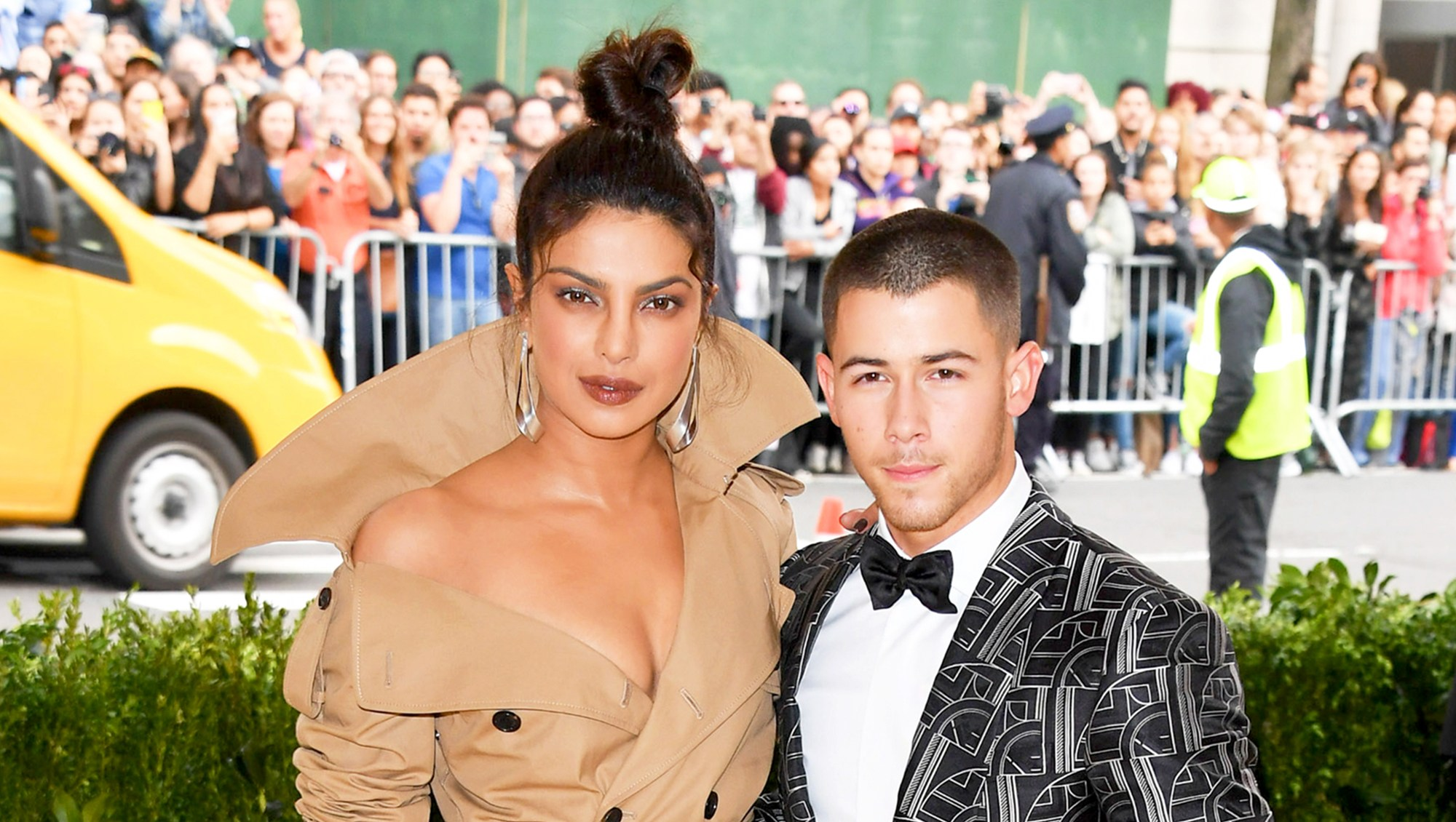 Priyanka Chopra and Nick Jonas attend the 'Rei Kawakubo/Comme des Garcons: Art Of The In-Between' 2017 Costume Institute Gala at Metropolitan Museum of Art in New York City.