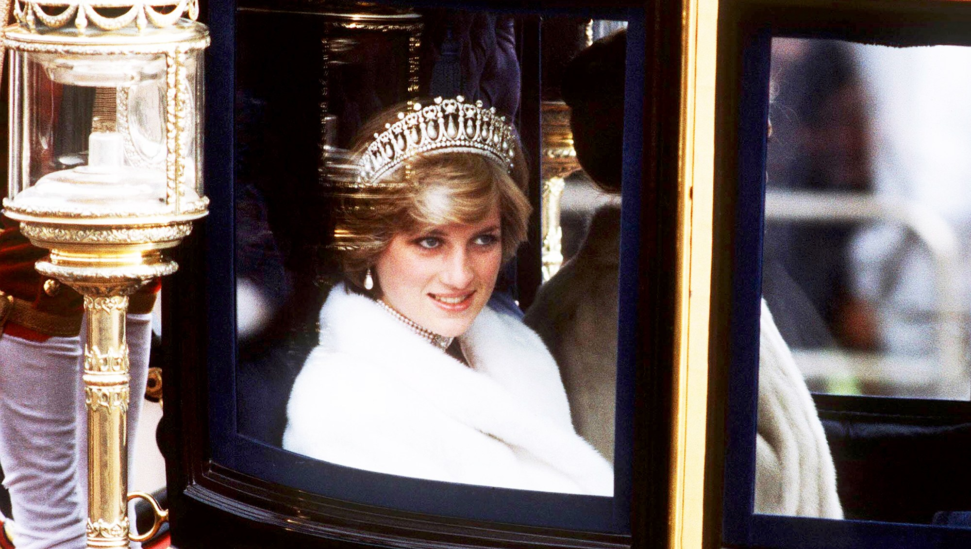Princess Diana on her way to the State Opening of Parliament in November 1981 in London, England.