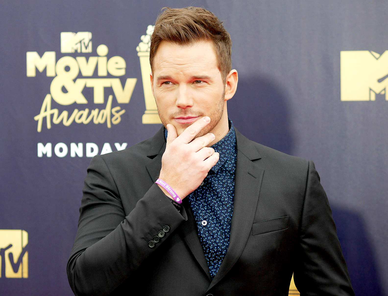 Watch Chris Pratt's MTV speech on God's love, learning to pray