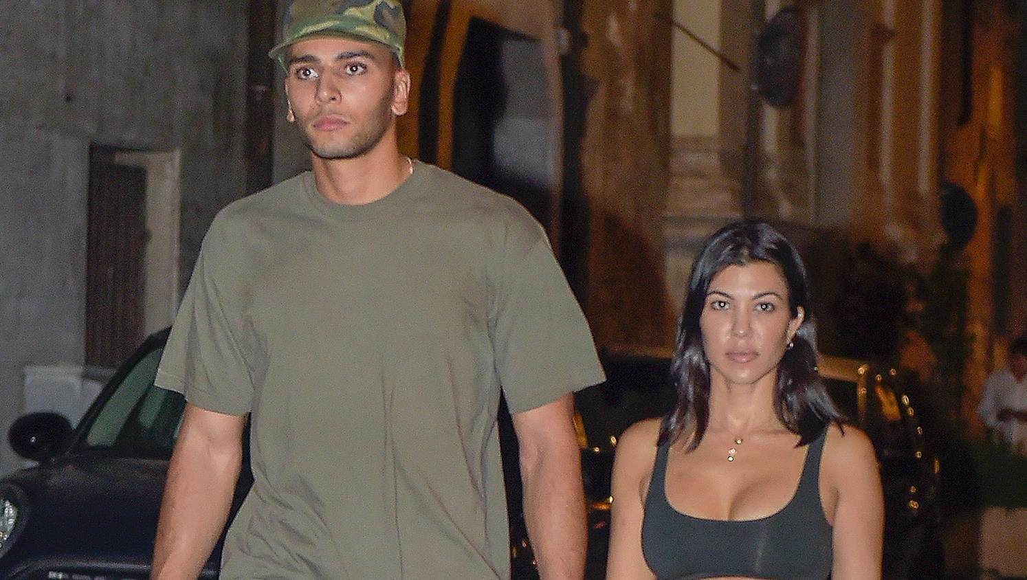 Kourtney Kardashian, Younes Bendjima, Rome, Capri, Vacation